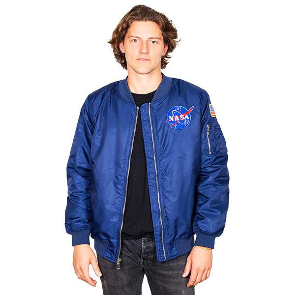 NASA Meatball Logo - 2 Patch Adult Bomber Jacket