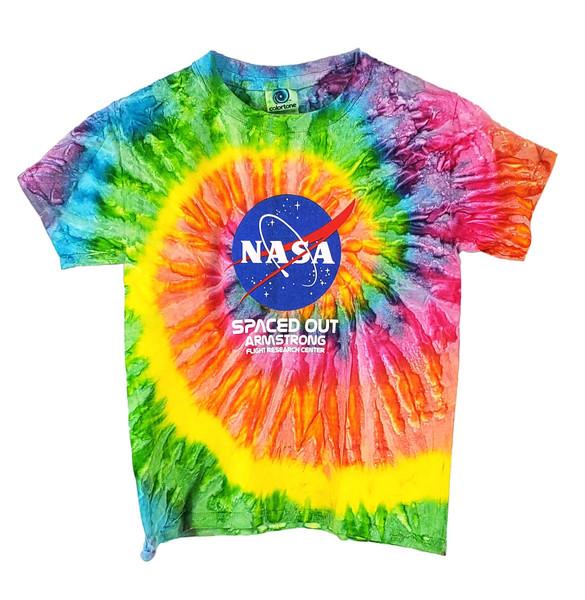 NASA Meatball Logo - Armstrong Tie Dye Youth T-Shirt
