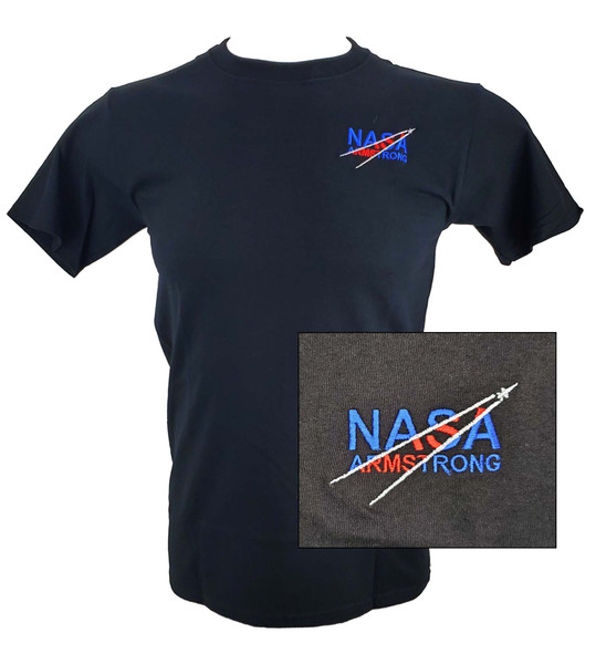 NASA Armstrong Logo - Embroidered Adult T-Shirt