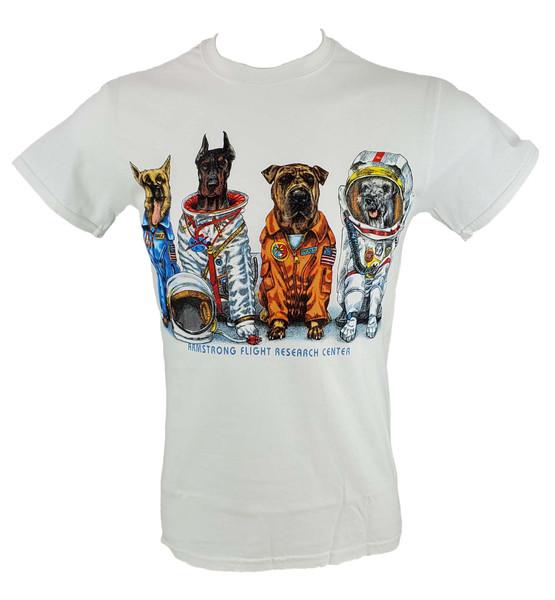 NASA Armstrong Adult Space Dog T-Shirt