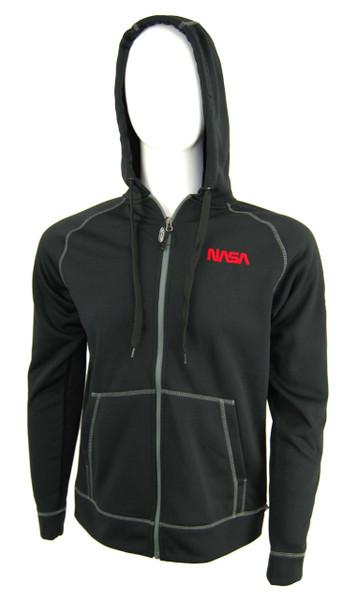 NASA Worm Logo - Competition Tech Full Zip Hoodie