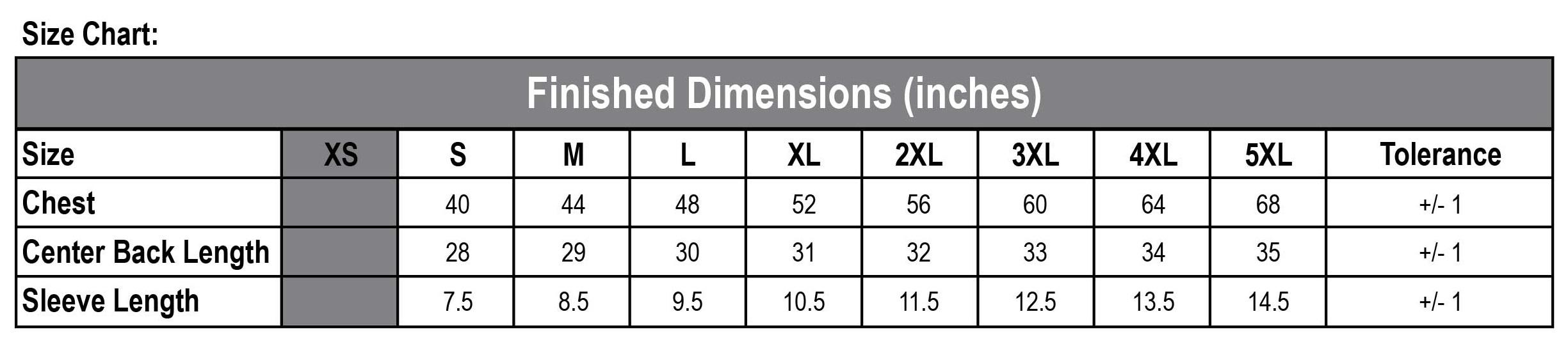 D3560 Size Chart