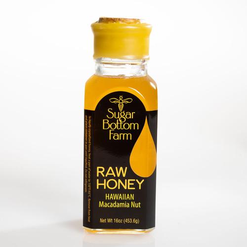 Hawaiian Macadamia Nut Raw Honey 16oz bottle