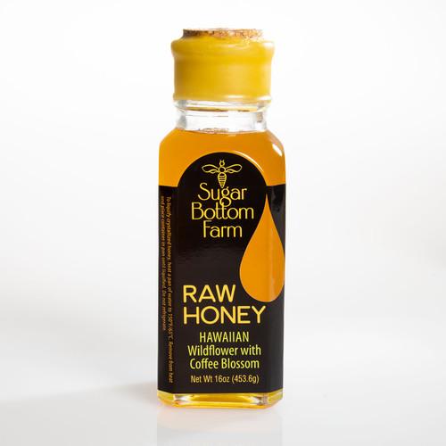 Raw Hawaiian Wildflower with Coffee Blossom Honey 16oz Bottle