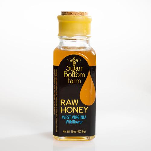 Raw West Virginia Wildflower Honey 16 oz. Bottle