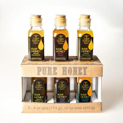 Raw Honey Sampler 3 (4oz) Sugar Bottom Farm