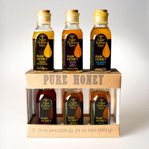 Raw Honey Sampler 3 (4oz)