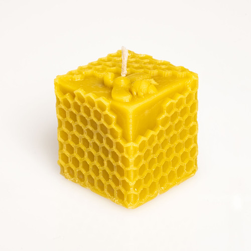 Honey Comb Beeswax Candle Sugar Bottom