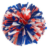 3 Color Plastic Stock Poms - Adult