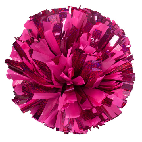 2 Color Plastic with Specialty Flash Poms - Adult