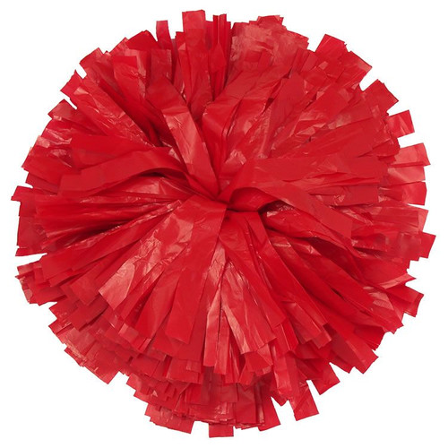 1 Color Plastic Stock Poms - Adult
