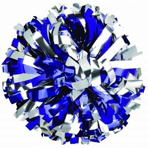 2 Color Metallic Stock Poms - Adult