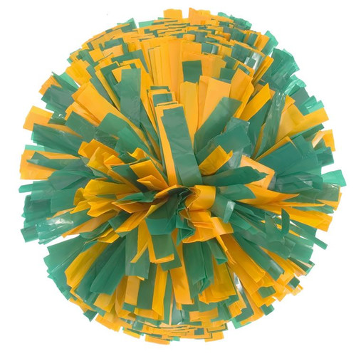 2 Color Plastic Stock Poms - Adult