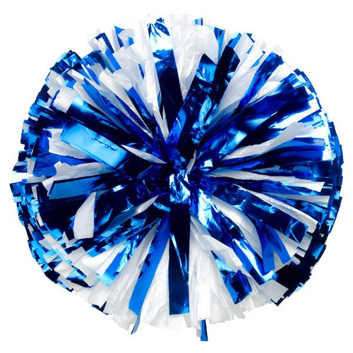 1 Color Plastic with Metallic Flash Poms - Adult