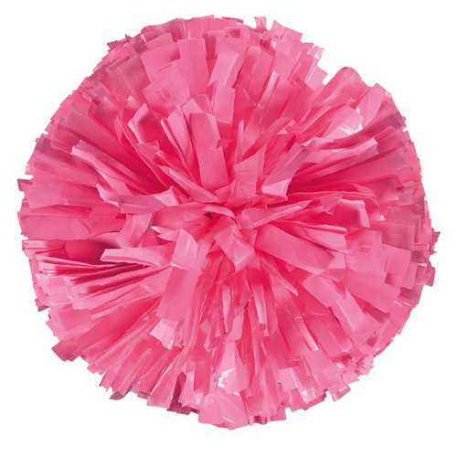 Plastic Awareness Pink Stock Poms - Adult