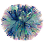 Iridescent with Metallic Blue Glitter