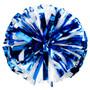 1 Color Plastic with Metallic Flash Poms - Adult