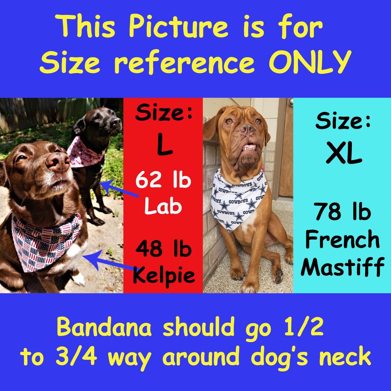 Large New Orleans Saints Dog Bandana