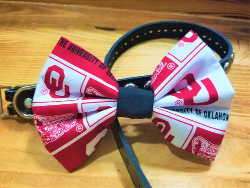 Oklahoma Sooners Pet Bow Tie