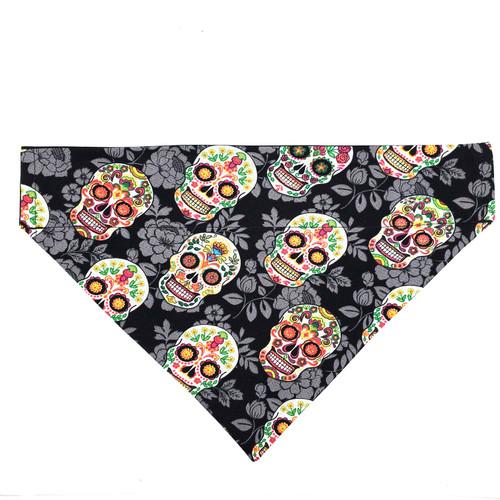 Sugar Skulls Dog Bandana (Black)