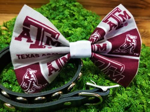 Texas A&M Aggies Pet Bow Tie