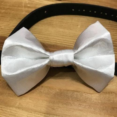 White Satin Pet Bow Tie