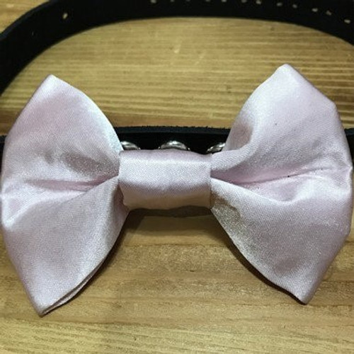 Pink Satin Pink Bow Tie
