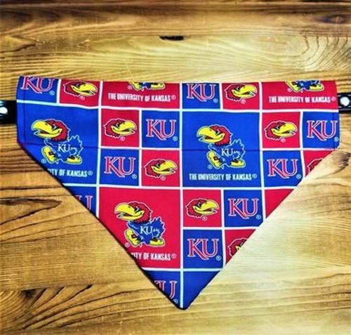 Kansas University Jay Hawks Dog Bandana