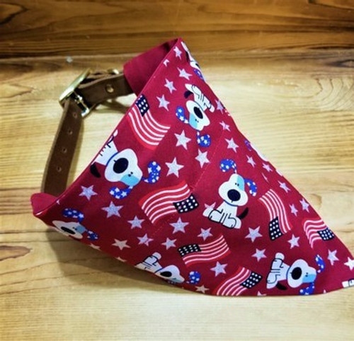 Patriotic Dog Red Bandana