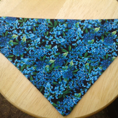 Bluebonnet Flower Dog Bandana