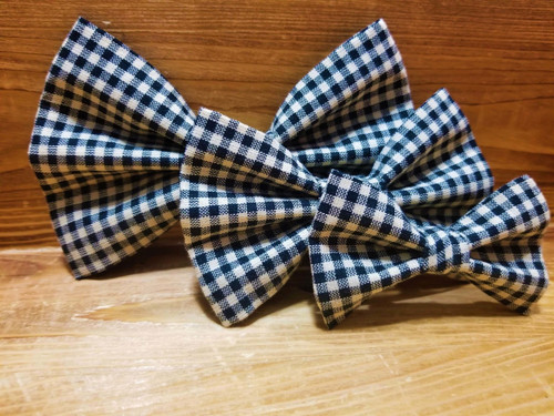 Black Gingham Pet Bow Tie