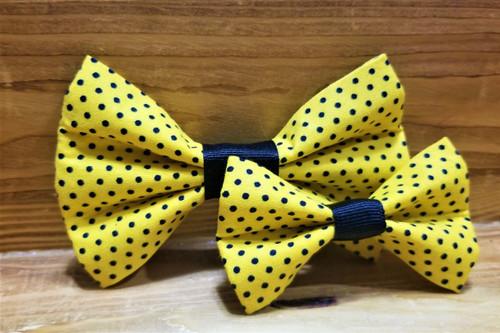 Yellow Polka Dot Pet Bow Tie
