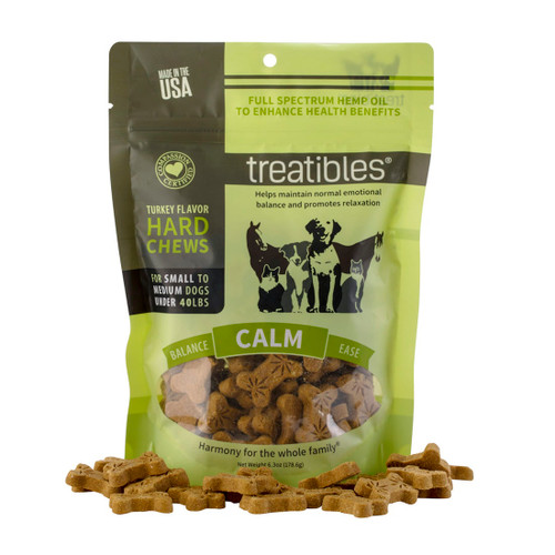 Turkey Hard Chews -Calm- Full Spectrum Hemp Dog Treats