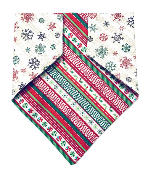 Ugly Sweater and Snowflake Song Sheet Christmas Dog Bandana