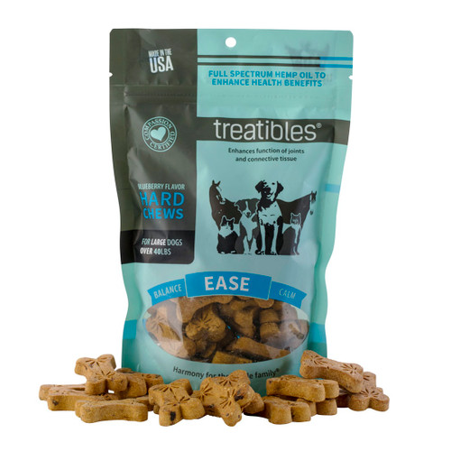 Blueberry Hard Chews -Ease- Full Spectrum Hemp Dog Treats