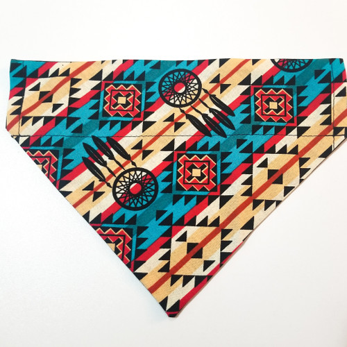 Native American Western Dream Catcher No-Tie Dog Bandana