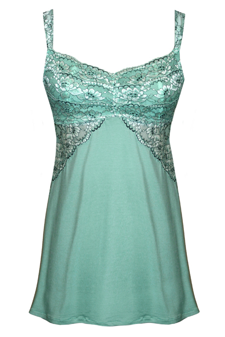80e74a7c3 ... Luxuriously Soft Lace Chemise in Mint ...