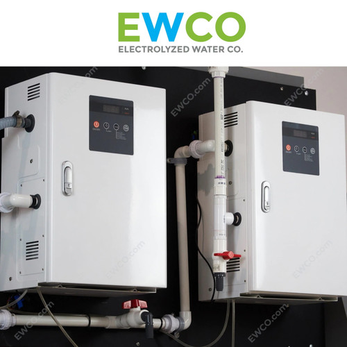 EWCO 1200 Dual System with pH control (pH 4-6) - Generate Hypochlorous Acid (HOCl) up to 800 ppm - $43,998