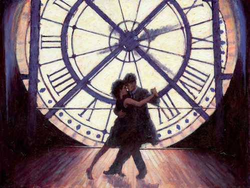 Time for Romance is a signed limited edition print of the original painting by Scottish artist Alexander Miller.
