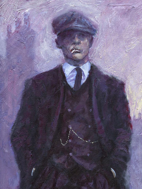 Tall Handsome Man is a limited edition print on paper or on canvas and is based on the original painting by Scottish artist Alexander Millar.