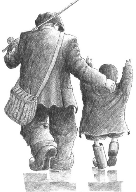 The One That Got Away is a signed limited edition print of the drawing by Scottish artist Alexander Millar.