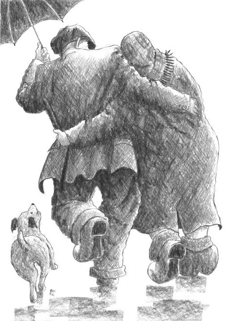 The Sun is in my Heart is a limited edition print of an original drawing by Scottish artist Alexander Millar