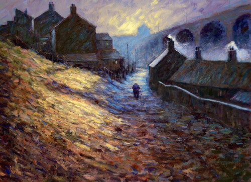 Daybreak is an original oil painting from Alexander Millar's Working Man Collection.