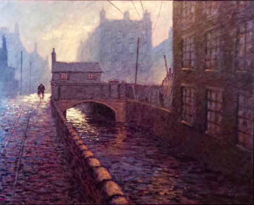 This original painting from the Working Man exhibition at the Hancock Great North Museum in Newcastle highlight Alexander Millar's fascination with how light plays in landscapes at dusk and at dawn.