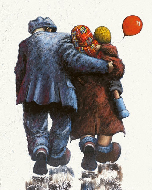 Loving Arms around Me is an original painting bu Scottish artist Alexander Millar.
