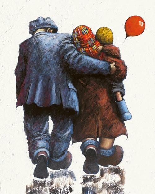 Loving Arms around Me is an original painting bu Scottish artist Alexander Millar.