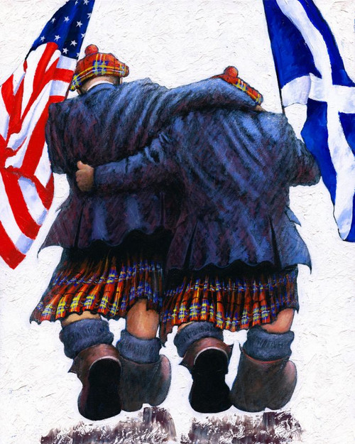 Brothers in Arms is a limited edition print of the painting by Scottish artist Alexander Millar.