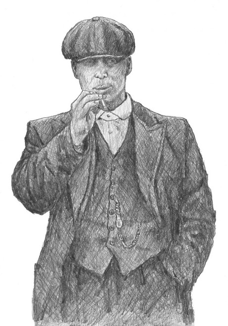 Taking Care of Business is is a limited edition print of the drawing by Scottish artist Alexander Millar. Its is inspired by the characters from the BBC TV seroes Peaky Blinders.