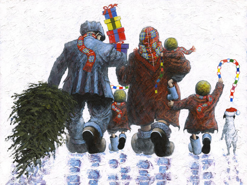 It's Christmas Time is a limited edition print of the painting by Scottish artist Alexander Millar.