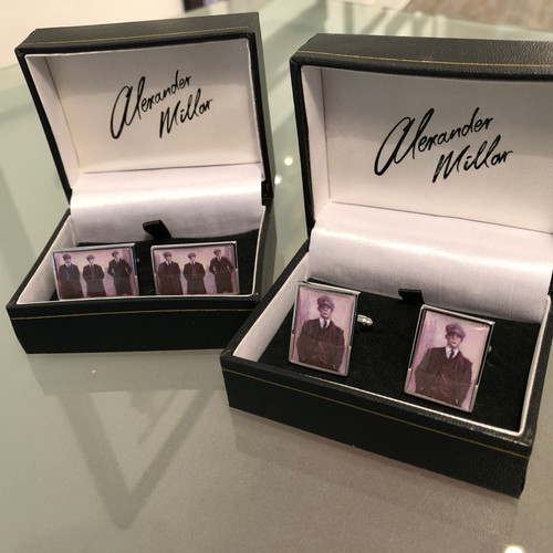 These beautiful limited edition cufflinks, inspired by the TV series Peaky Blinders, are taken from original paintings by Alexander Millar.